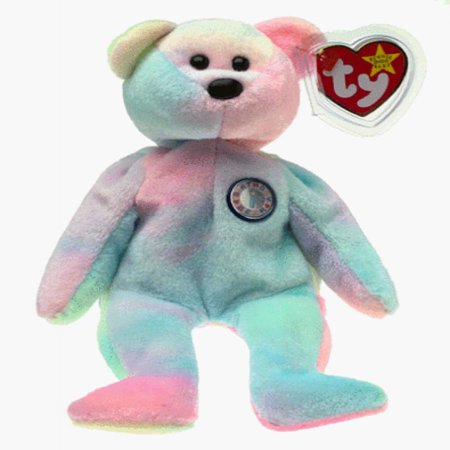 TY Beanie Baby - BIRTHDAY Bear (Birthday Bear)