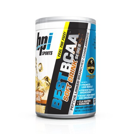 BPI Sports Best BCAA Soft Drink Series, Orange, 30