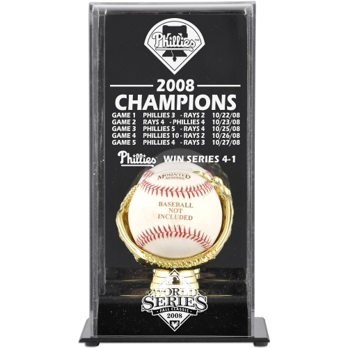 Philadelphia Phillies Fanatics Authentic 2008 World Series Champions Baseball Display Case - No Size