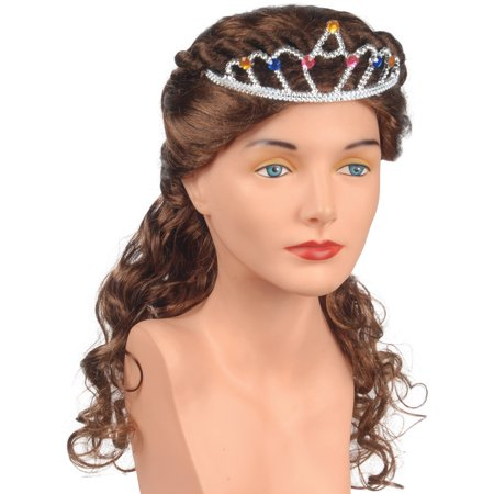 Princess Brown Wig - Star Power Renaissance Princess Curly Twists Adult Wig, Brown, One-Size