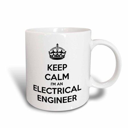 3dRose Keep calm Im an electrical engineer., Ceramic Mug, 15-ounce