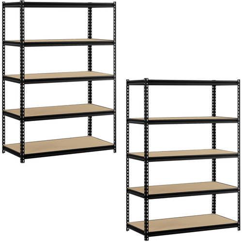 "Edsal 48""W x 24""D x 72""H 5-Shelf Steel Shelving Value Bundle (Set of 2)"