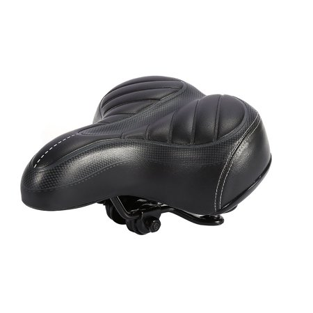 Outdoor PU leather Wide Big Bum Sprung Men Bike Bicycle Gel Cushion Comfort Saddle Seat Bike Bicycle Saddle Seat