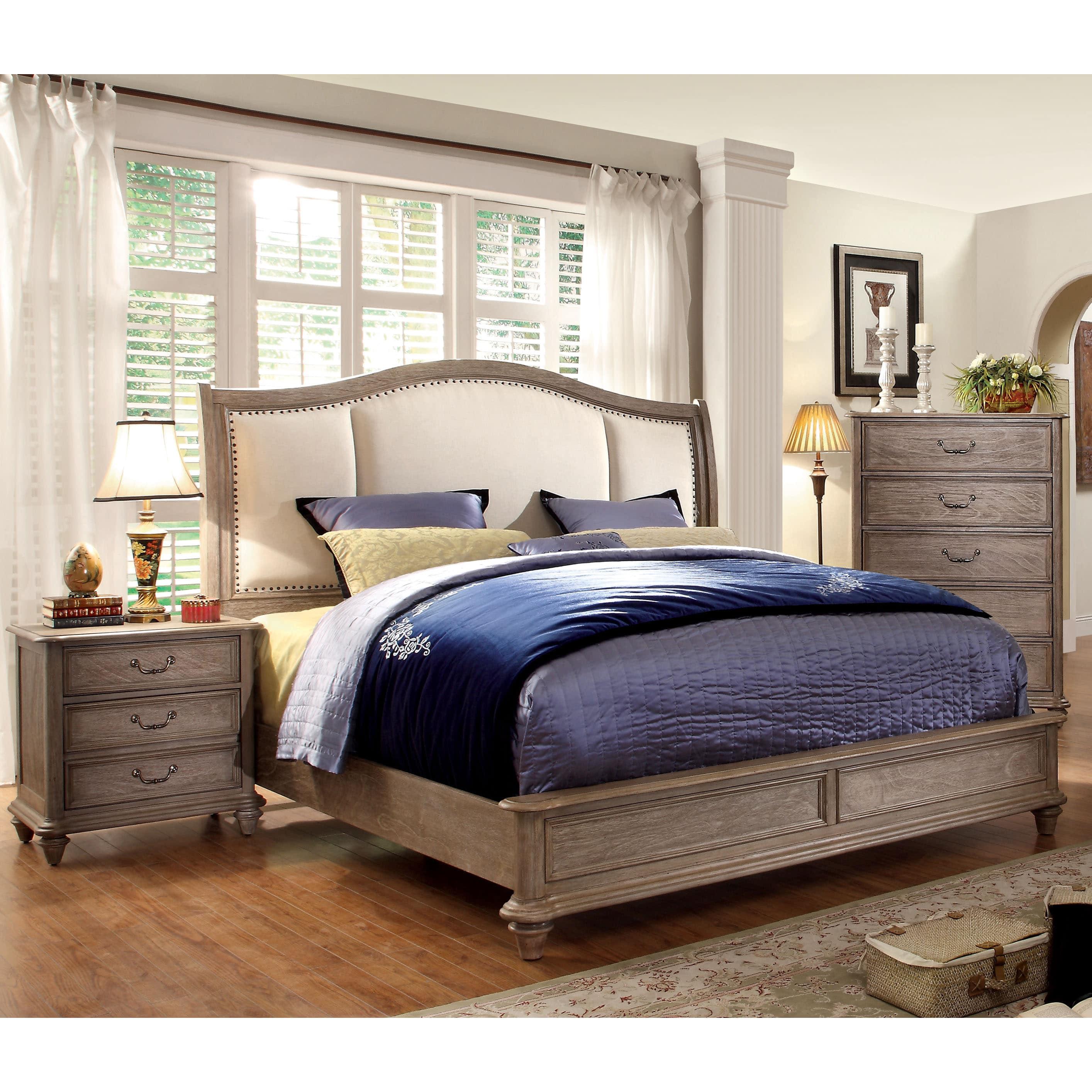 Furniture of America Minka II Rustic Grey 3-Piece Bedroom Set by Overstock