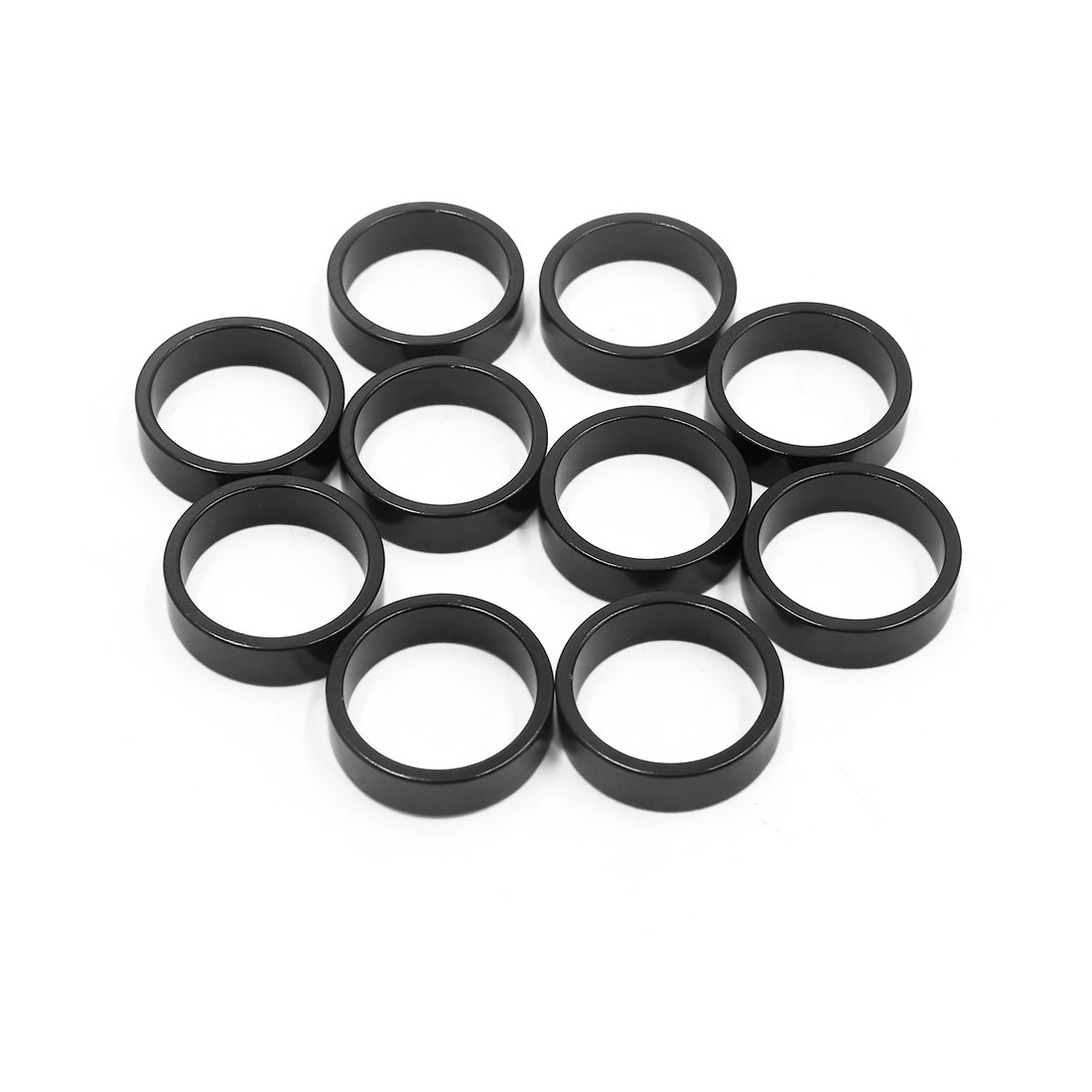 10Pcs Black Aluminum Alloy MTB Bike Bicycle Spacer Fork Stem Washer 28.6 x 10mm