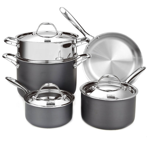 Cooks Standard Multi-Ply Clad Hard Anodize 8-Piece Cookware Set