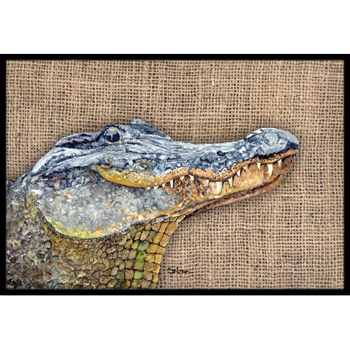 Alligator Doormat Doormat by Caroline's Treasures