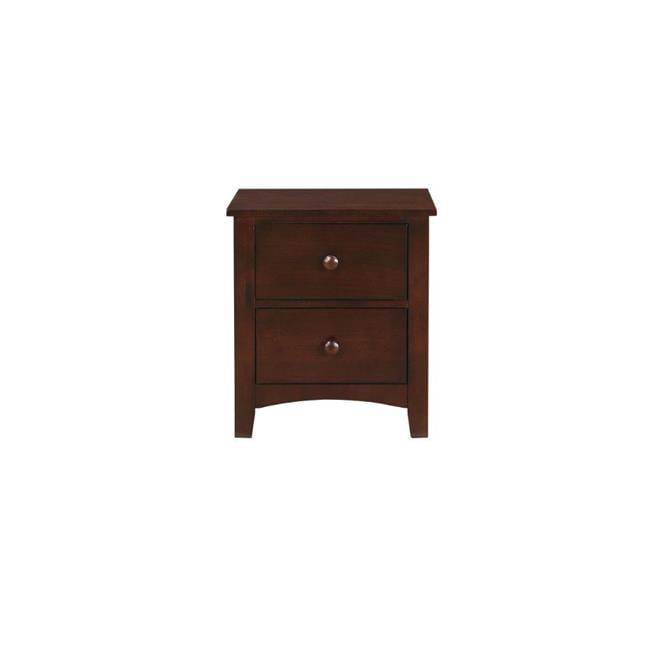 Benzara BM171566 24 x 22 x 16 in. Pine Wood 2- Drawer Night Stand, Brown - image 1 of 1