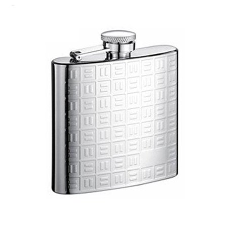 Domino Stainless Steel 6oz Hip Flask - image 1 of 1