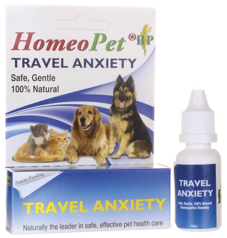 HOMEOPET Travel Anxiety Safe Effective All Natural Pets Cats Dogs 15 ml