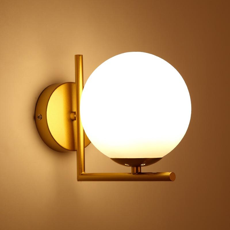 Led Wall Lamps Nordic Glass Ball Wall Lights For Passage Corridor Bedroom Bedside Lamp Wall Sconces Walmart Canada
