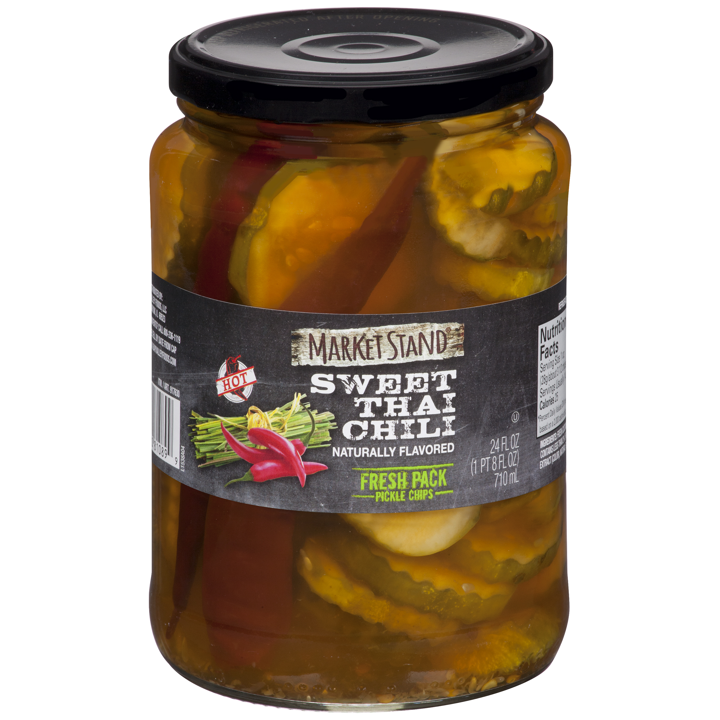 Market Stand�� Sweet Thai Chili Fresh Pack Pickle Chips 24 fl. oz. Jar