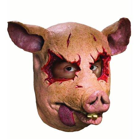 Swine Dead Pig Mens Adult Latex Saw Movie Animal Costume Mask - Pig From Saw