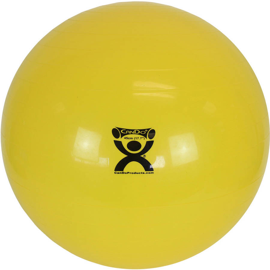 "CanDo® Inflatable Stability Exercise Yoga Ball - Yellow - 18"" (45 cm)"