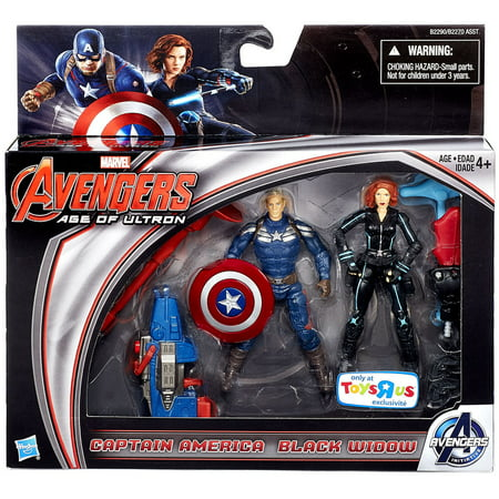 Marvel Avengers Age of Ultron Captain America & Black Widow Action Figure 2-Pack - Captain America And Black Widow