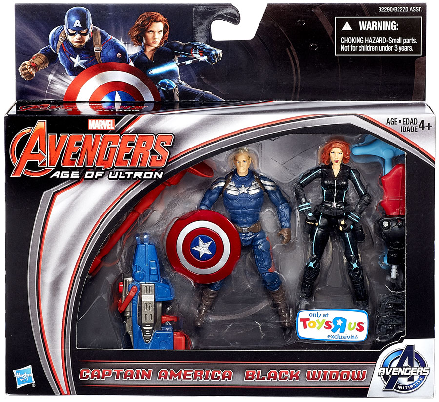 Marvel Avengers Age of Ultron Captain America & Black Widow Action Figure 2-Pack