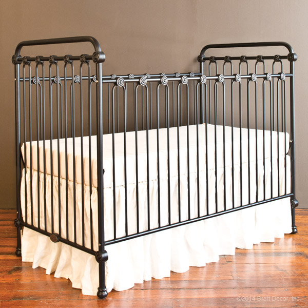 Bratt Decor Joy baby crib distressed black