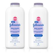 Johnson's Lavender Baby Powder with Naturally Derived Cornstarch, 22 oz