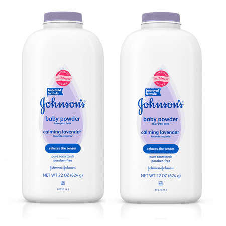 (2 pack) Johnson's Baby Powder Calming Lavender For Irritated Skin, 22 Oz. - Baby Powder On Face Halloween