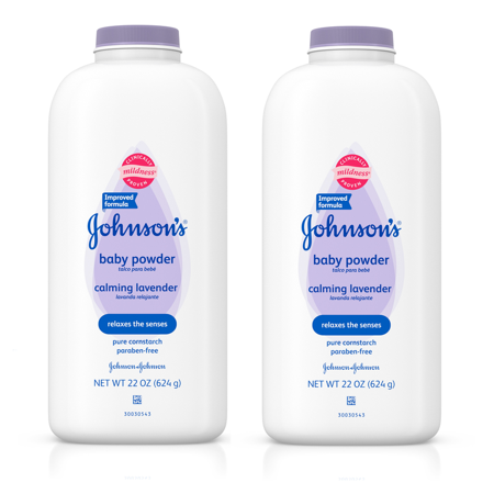 (2 pack) Johnson's Baby Powder Calming Lavender For Irritated Skin, 22