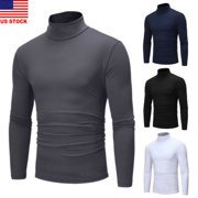 Winter Men Slim Warm Knit High Neck Pullover Jumper Sweater Top Turtleneck Solid
