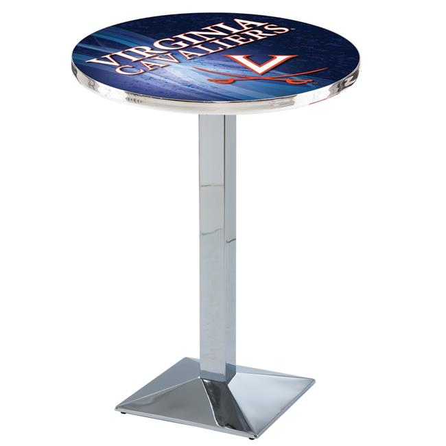 Holland Bar Stool L217C4236Vrgnia 42 in. Virginia Cavaliers Pub Table with 36 in. Top, Chrome - image 1 of 1
