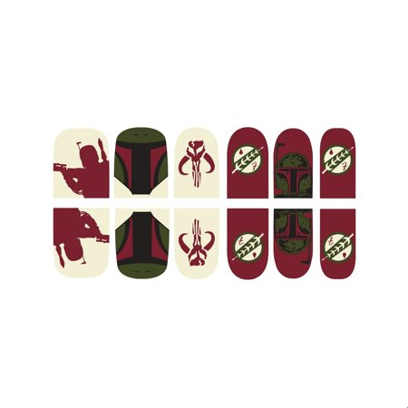 Star Wars Boba Fett Nail Stickers Halloween Costume Accessory](Easy Halloween Nails For Kids)