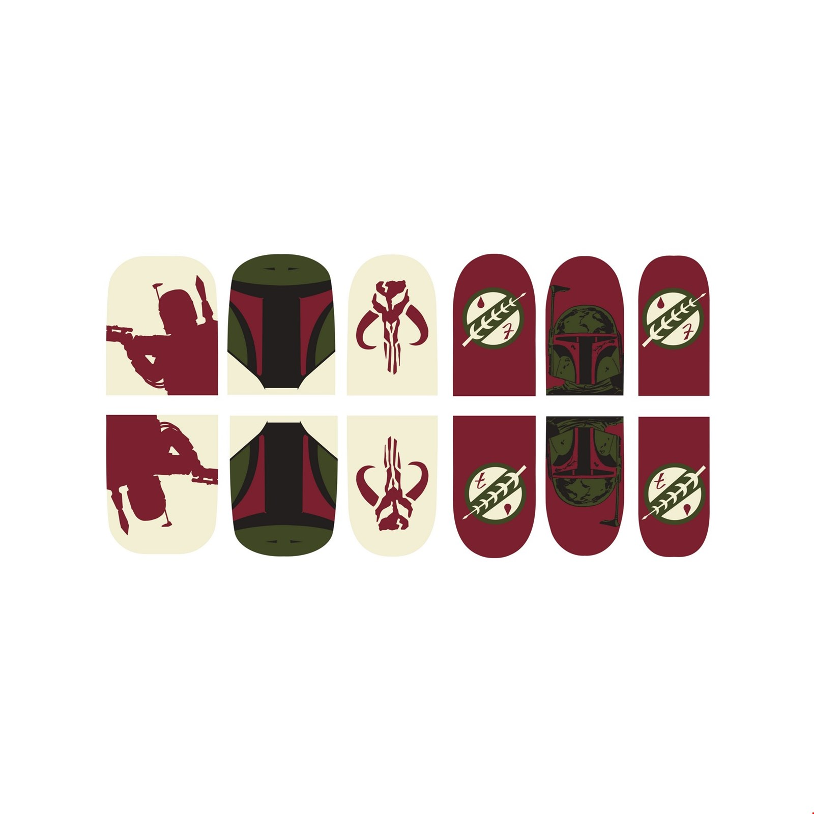 Star Wars Boba Fett Nail Stickers Halloween Costume Accessory