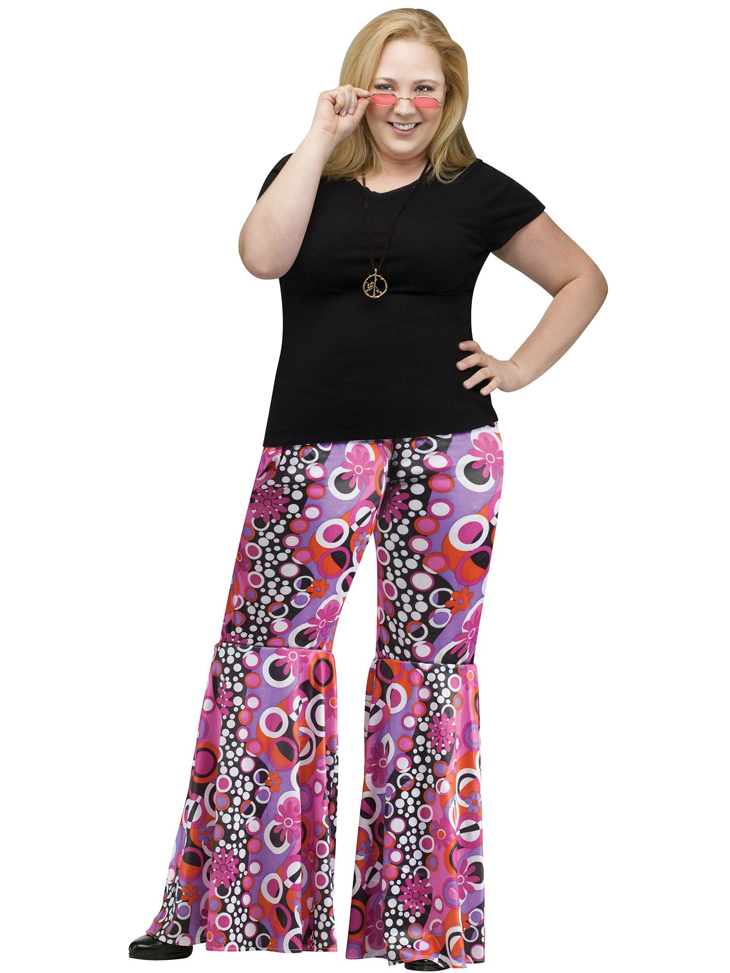 Plus Size Adult Plus Size Flower Child Bell Bottoms Costume - Walmart.com