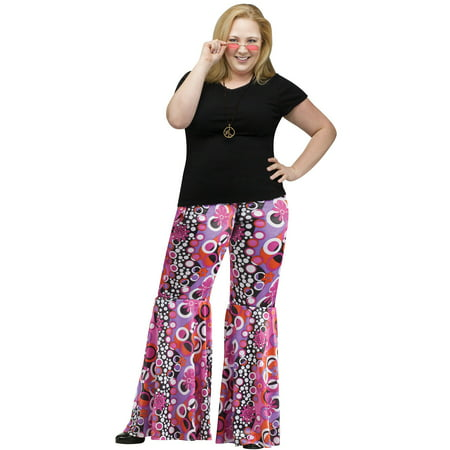 Plus Size Adult Plus Size Flower Child Bell Bottoms Costume - Plus Size Bell Bottoms
