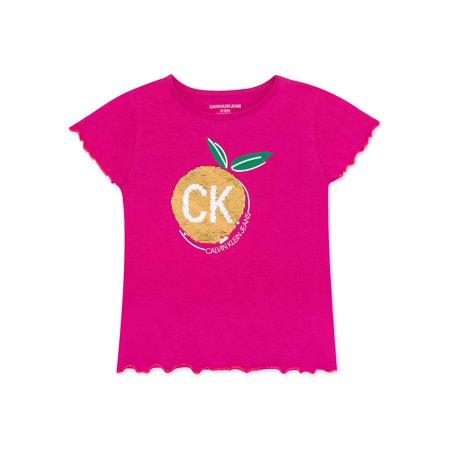 Girl's Lettuce Edge Fruit Cotton Blend Tee Calvin Klein Cotton Henley