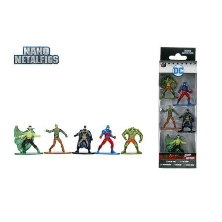 - Nano Metalfigs DC Comics 5 pack Die Cast Metal Figures by Jada Toys Wave 3B