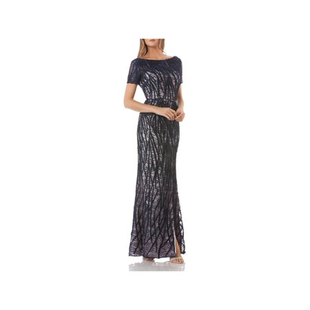JS Collections Womens Lace Embroidered Evening Dress (Js Collections Lace)
