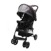 Wonder Buggy Mimmo Deluxe Lightweight One-Hand Folding Multi-Position Compact Stroller - Black
