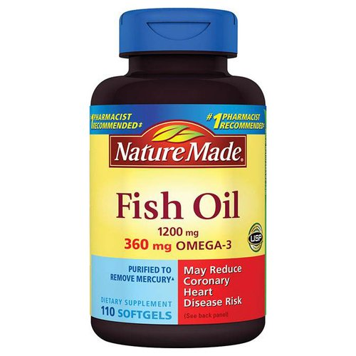 Nature Made Fish Oil Dietary Supplement Softgels, 1200mg, 110 count