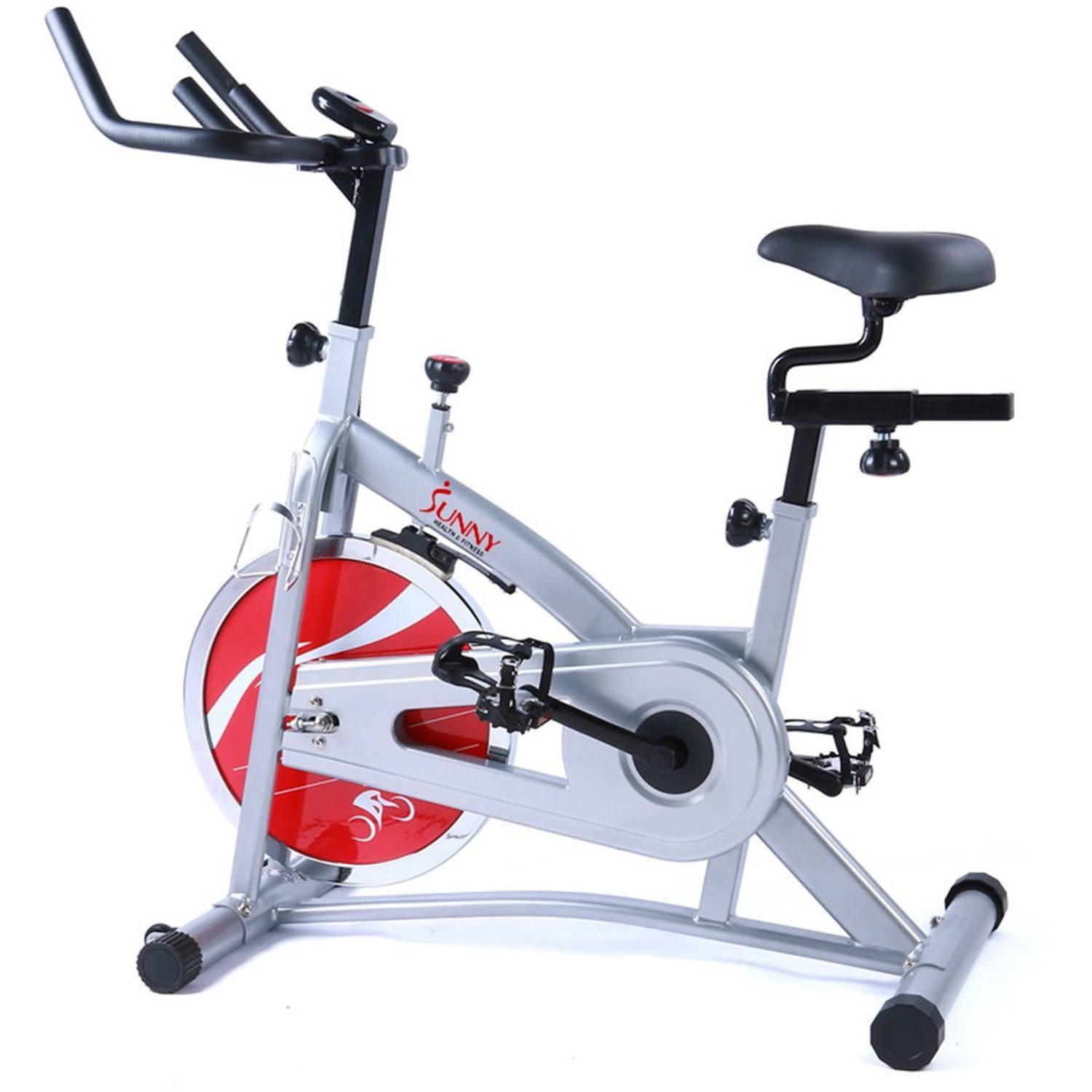 Chain Drive Indoor Cycling Bike Exercise Bike w  LCD Monitor by Sunny Health & Fitness SF-B1421 by Sunny Health & Fitness