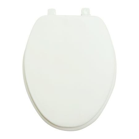 Mainstays White Elongated Soft Vinyl Toilet Seat