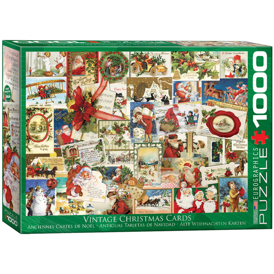 Vintage Christmas Cards 1000-Piece Puzzle