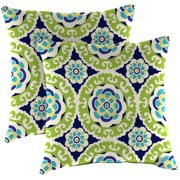 "Set of 2 - Outdoor 16"" Square Toss Pillows"
