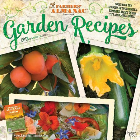 Farmers Almanac Garden Recipes 2018 Calendar