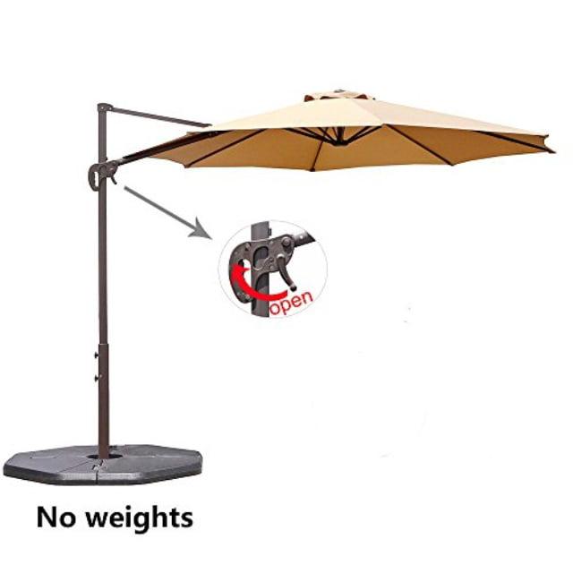 Le Papillon 10 Ft Cantilever Umbrella Outdoor Offset Patio Umbrella