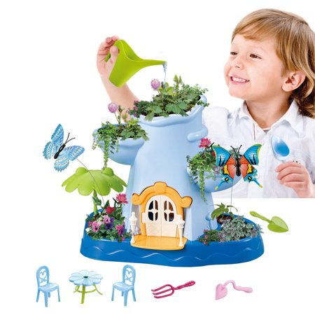 Vokodo Kids Magical Garden Growing Kit Includes Everything You Need Tools Seeds Soil Flower Plant Tree Interactive Play Fairy Toys Inspires Horticulture Learning Great Gift For Children Girls (Growing A Black Walnut Tree From Seed)