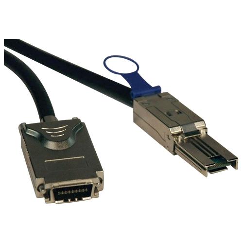 """Tripp Lite S520-02M Tripp Lite External SAS Cable, 4 Lane - mini-SAS (SFF-8088) to 4xInfiniband (SFF-8470) - 2M (6-ft.)"""