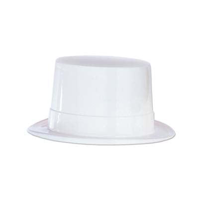 White Plastic Top Hat
