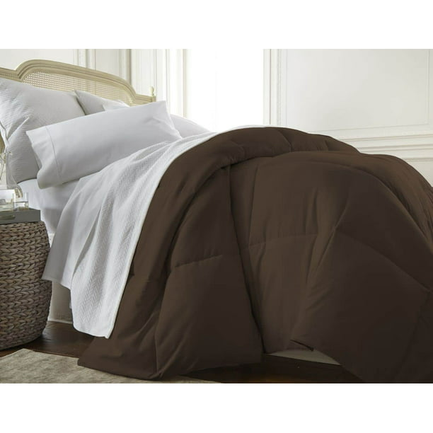 Merit Linens Luxury Premium Over Filled Down Alternative Comforter - King/California King - Chocolate