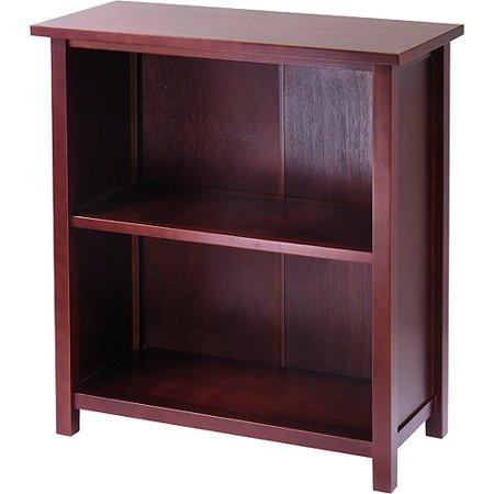 30u0022 Milan Storage Shelf Or Bookcase 3 Tier Medium Walnut - Winsome