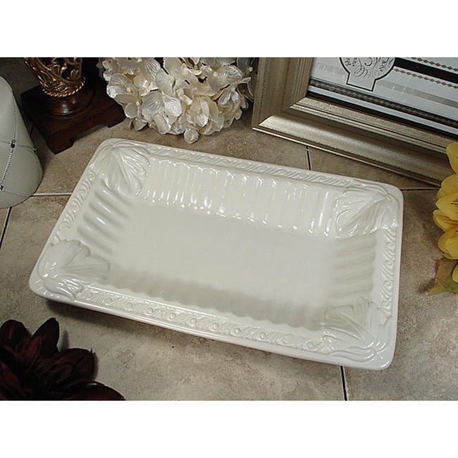 D'Lusso Designs  Couture Line Ceramic Deep Rectangular Platter