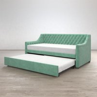 Little Seeds Monarch Hill Ambrosia Upholstered Daybed and Trundle, Teal, Twin