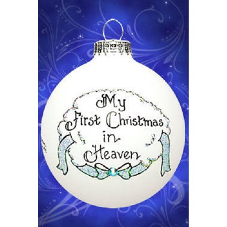 My First Christmas In Heaven.Memorial My First Christmas In Heaven Boy Male Ornament Made In The Usa