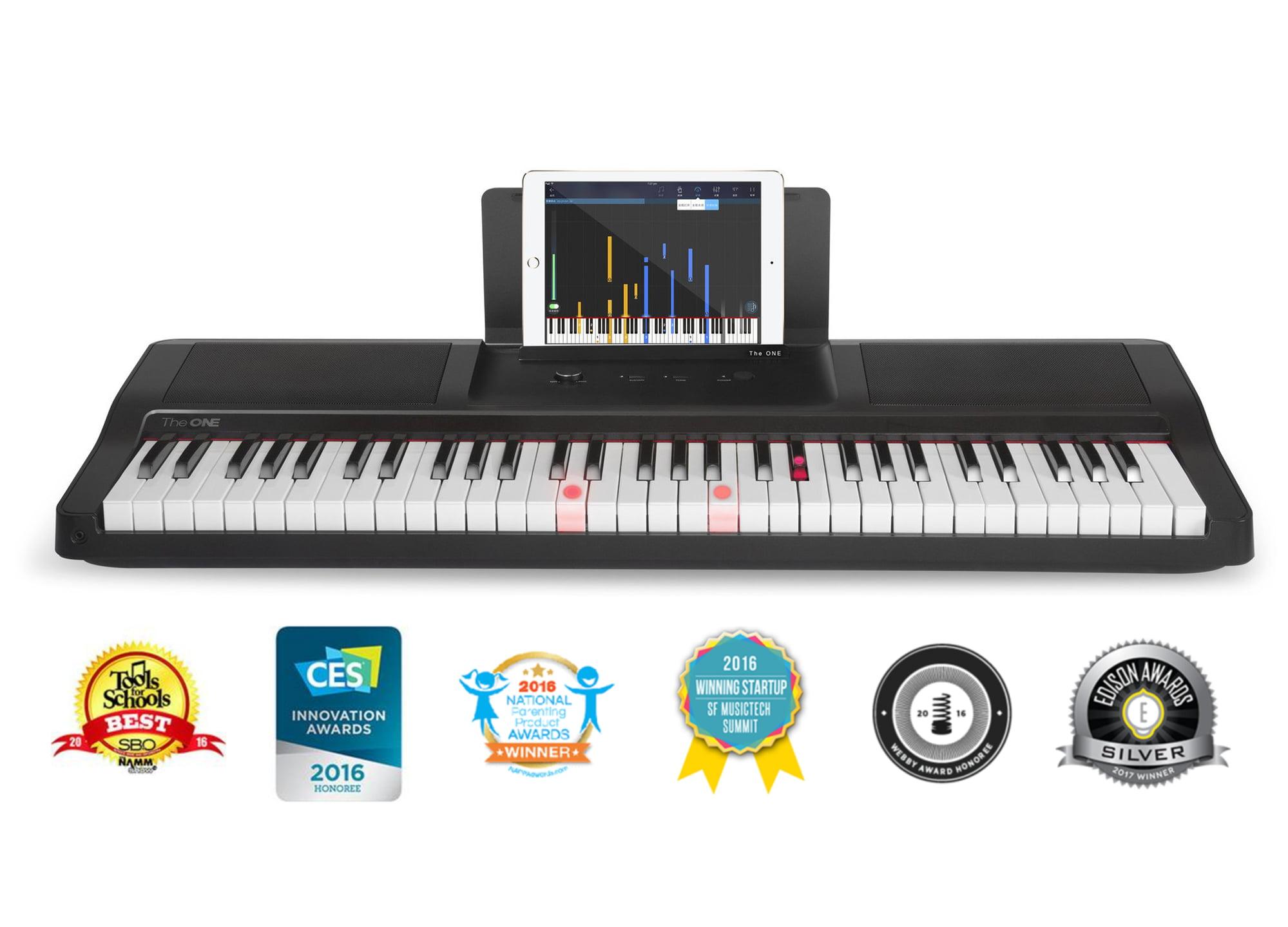 The ONE Smart Piano 61-Key Piano Keyboard, Black